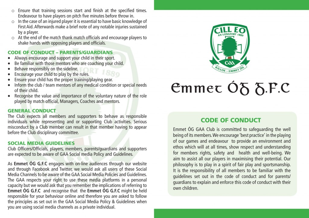 Killoe Emmet Og Code of Conduct 4pp a6.indd